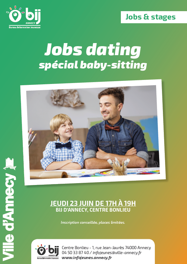 Job dating sp cial baby sitting bureau information jeunesse - Bureau information jeunesse annecy ...